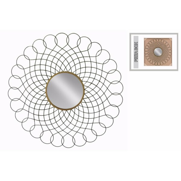 Cobleskill Accent Mirror with Center and Interlocking Loops Design Frame by Bungalow Rose