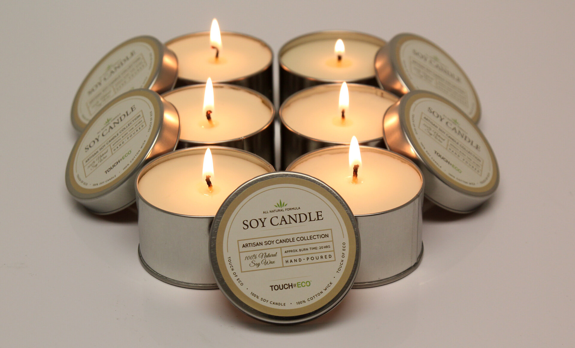 Wedding Day Handpoured Highly Scented Tea Lights Candles Tealights pack of 6