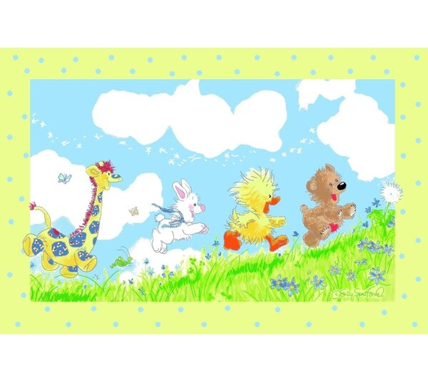 Suzy Zoo Looking For The Wishing Puff Area Rug by Fun Rugs