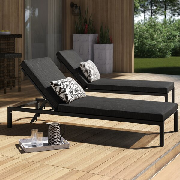 Mirando Reclining Chaise Lounge With Cushion By Mercury Row