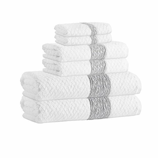 Nickolas 6 Piece Turkish Cotton Towel Set by Langley Street