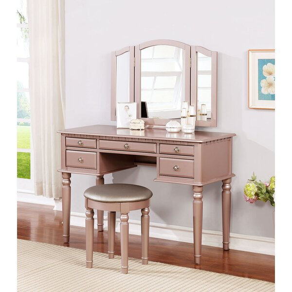 Brookland Vanity Set with Mirror by House of Hampton