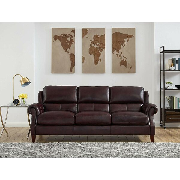 Good Quality Floodwood Leather Sofa by Red Barrel Studio by Red Barrel Studio