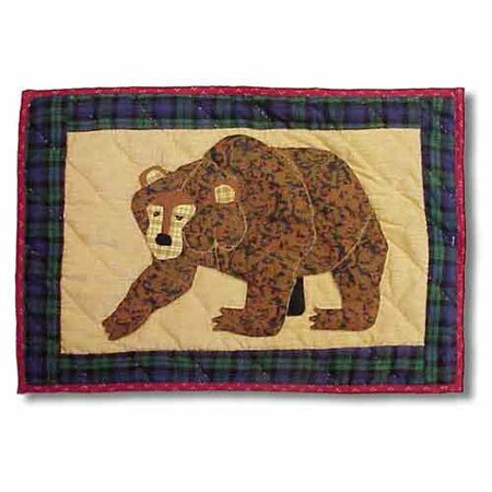 Cabin Bear Placemat (Set of 4) by Patch Magic