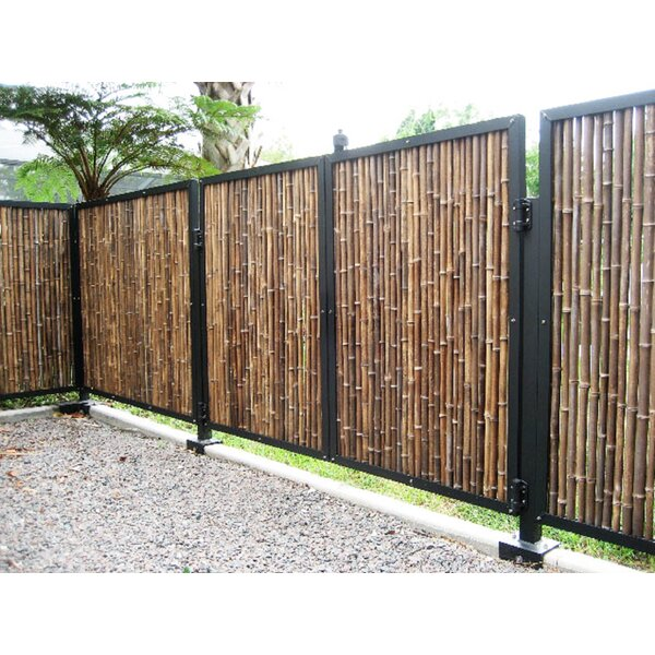 Rolled Bamboo Fencing by Backyard X-Scapes