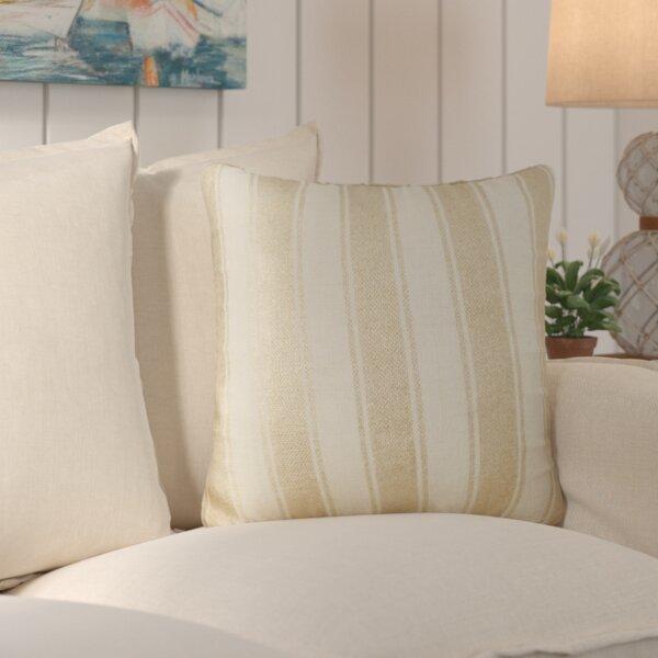 Laurel Striped Foil Cotton Throw Pillow by Beachcrest Home