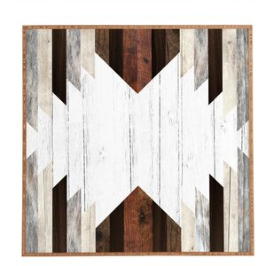 'Geo Wood 2' Framed Graphic Art by East Urban Home