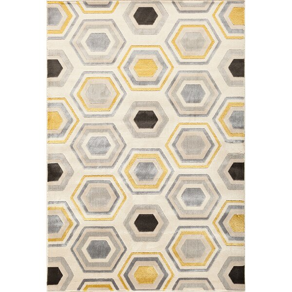 Suffolk Beige/Gold Area Rug by Threadbind