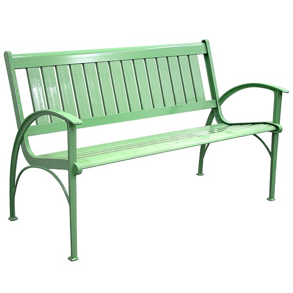 Contemporary Aluminum Garden Bench by Innova Hearth and Home