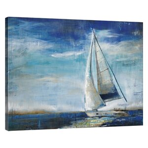 'Sail Away' Painting Print on Wrapped Canvas by Breakwater Bay
