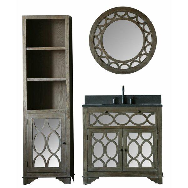 Clarkston 60 Single Bathroom Vanity Set with Mirror by Bungalow Rose