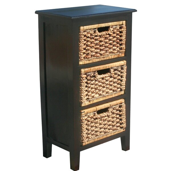 Water Hyacinth 3 Drawer Chest by Chic Teak Chic Teak
