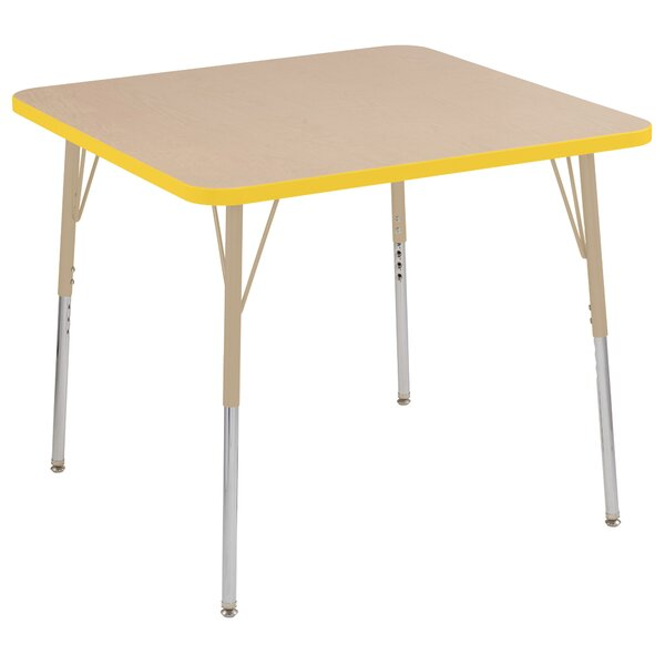 Maple Top Thermo-Fused Adjustable 36 Square Activity Table by ECR4kids