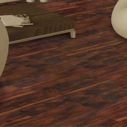 Exotic 5 5.25 x 64 x 12mm Acacia Laminate Flooring in Hazel by All American Hardwood