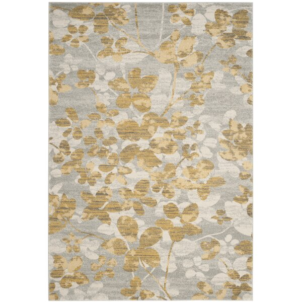 Montelimar Gray/Gold Area Rug by Lark Manor