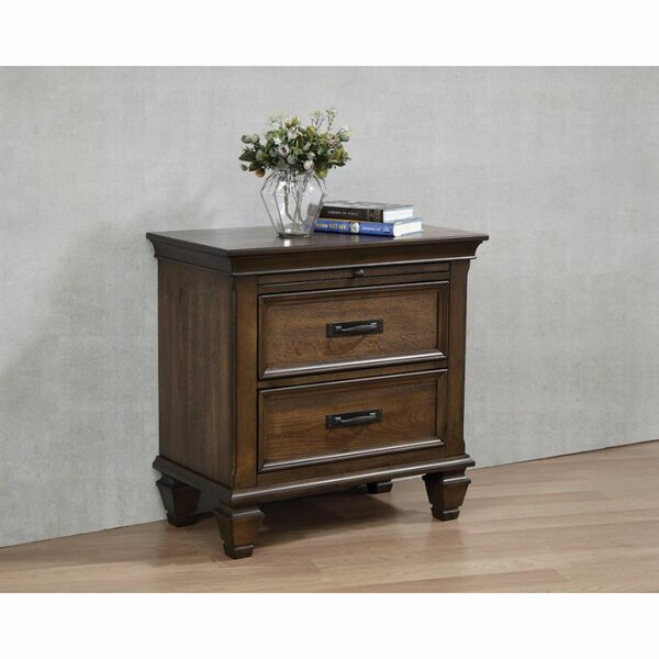 Tipps 2 Drawer Nightstand by Canora Grey
