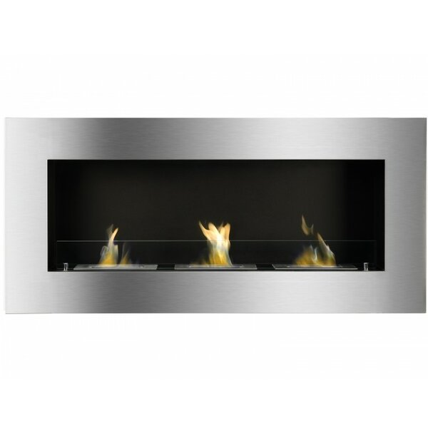 McTeer Wall Mounted Ethanol Fireplace by Orren Ellis Orren Ellis