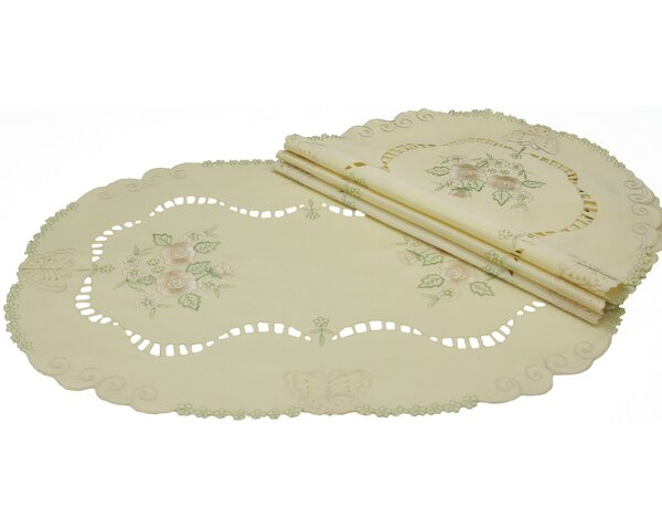 Embroidered Butterflies and Flower Cutwork Placemat (Set of 4) by Xia Home Fashions
