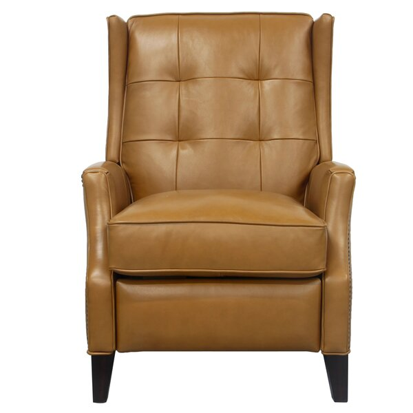 Michale Leather Manual Recliner by Canora Grey