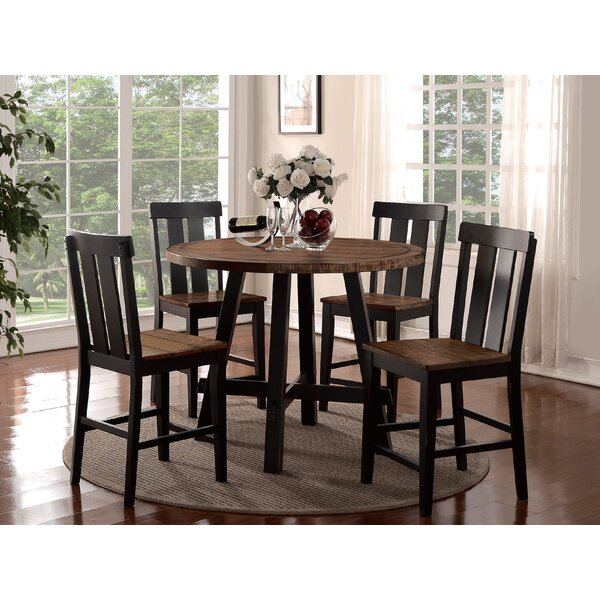 Goodman 5 Piece Counter Height Dining Set by Gracie Oaks