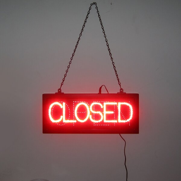 Open and Closed LED Sign by Neonetics