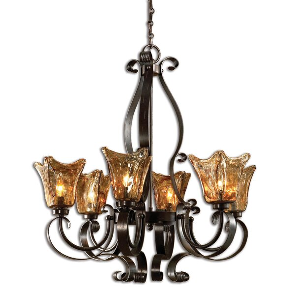 Constantine 6-Light Shaded Classic / Traditional Chandelier by Astoria Grand Astoria Grand
