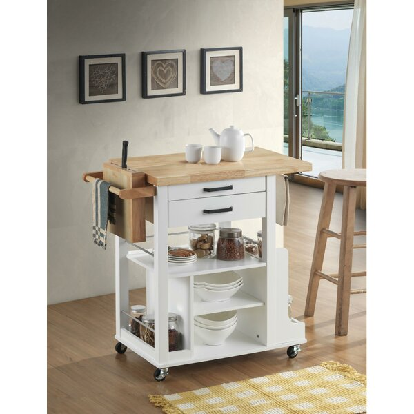 Rushmore Dual Tone Kitchen Cart by Canora Grey