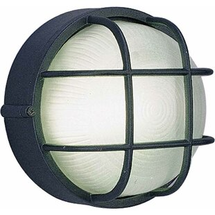 1-Light Outdoor Bulkhead Light By Volume Lighting Outdoor Lighting