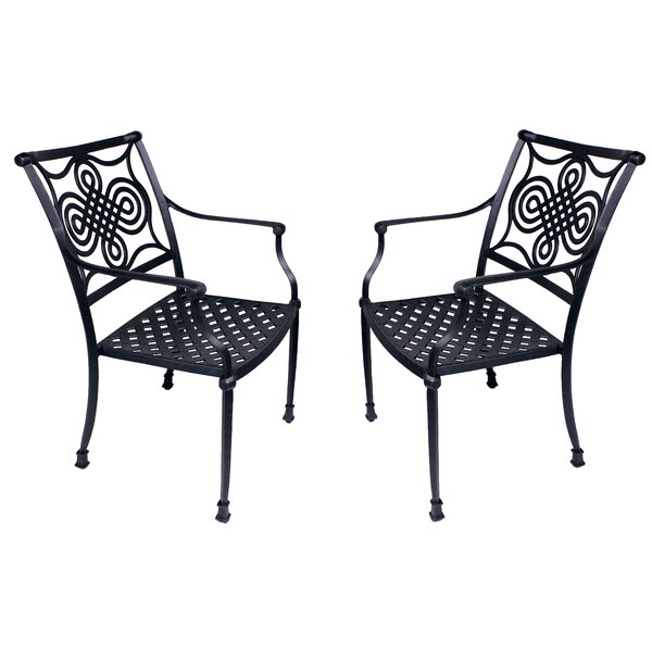 Juanita Stacking Patio Dining Chair (Set of 2) by Alcott Hill