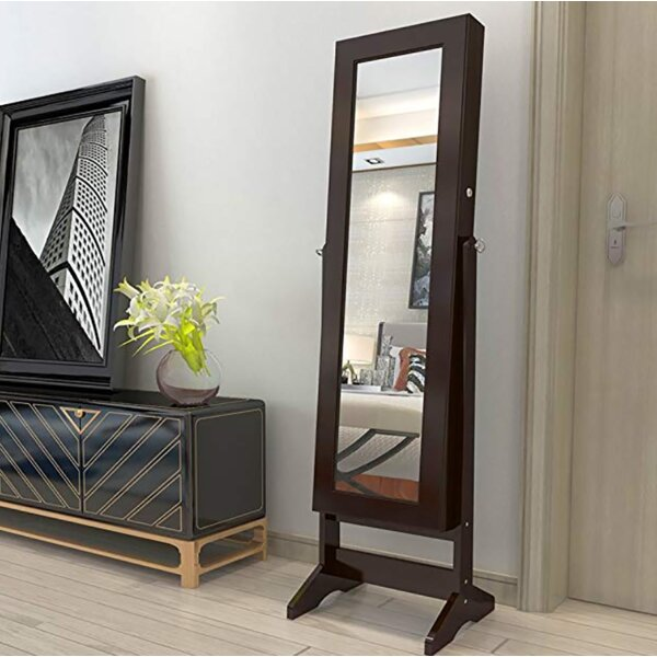 West Oak Lane Free Standing Jewelry Armoire With Mirror By Red Barrel Studio