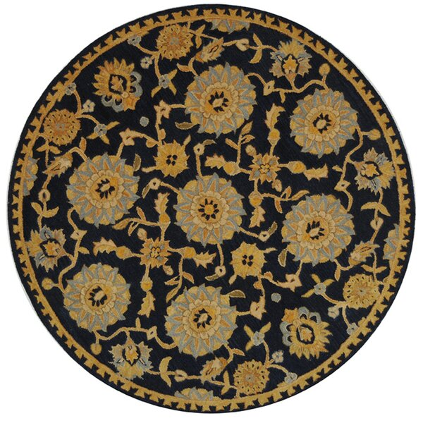 Anatolia Hand-Woven Wool Navy/Gold Area Rug by Safavieh