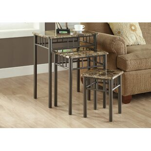 Reviews White Oak 3 Piece Nesting Tables By Andover Mills