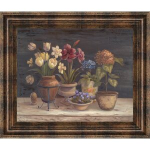 Floral Sensation I by Vivian Flasch Framed Painting Print by Classy Art Wholesalers
