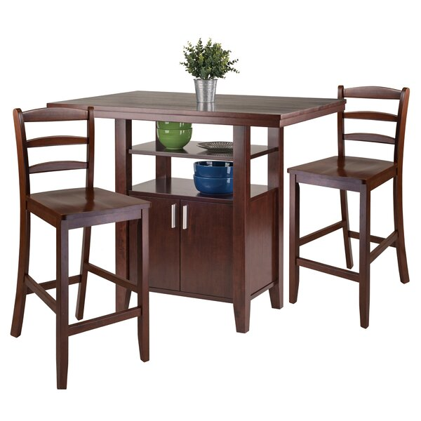 Bones 3 Piece Pub Table Set by Charlton Home