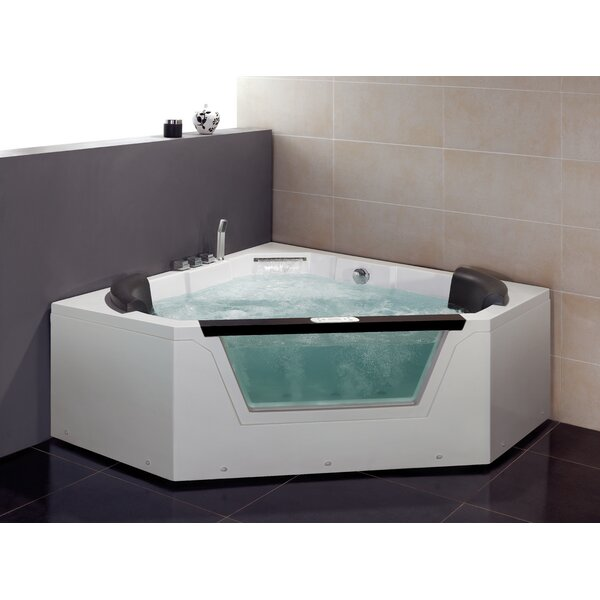 59 x 59 Whirlpool Tub by Ariel Bath