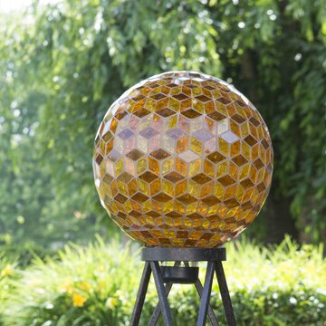 10 Auburn Diamond Mosaic Gazing Globe by Echo Valley