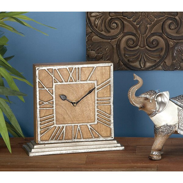 Wood/Aluminum Table Clock by Cole & Grey