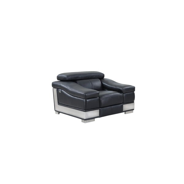 Hawkesbury Common 3 Piece Leather Chair by Orren Ellis