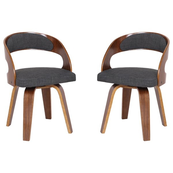 Saxton Upholstered Dining Chair - set of 2 (Set of 2) by Wrought Studio