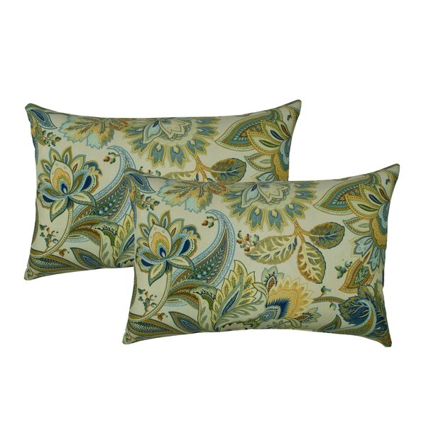 Spring Leaves Outdoor Lumbar Pillow (Set of 2) by Sherry Kline