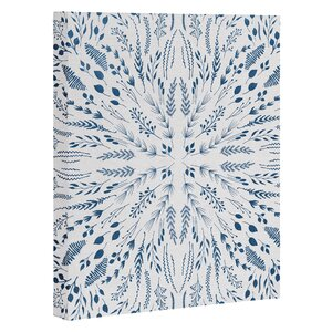 Indigo Maze Graphic Art on Gallery Wrapped Canvas by Andover Mills