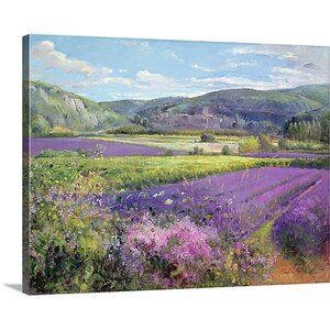 Lavender Fields in Old Provence by Timothy Easton Painting Print on Canvas by Canvas On Demand