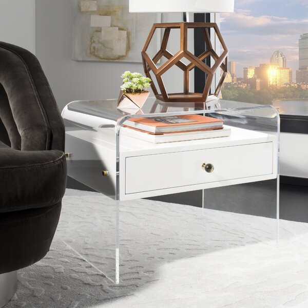 Kasten Lucite End Table by Everly Quinn