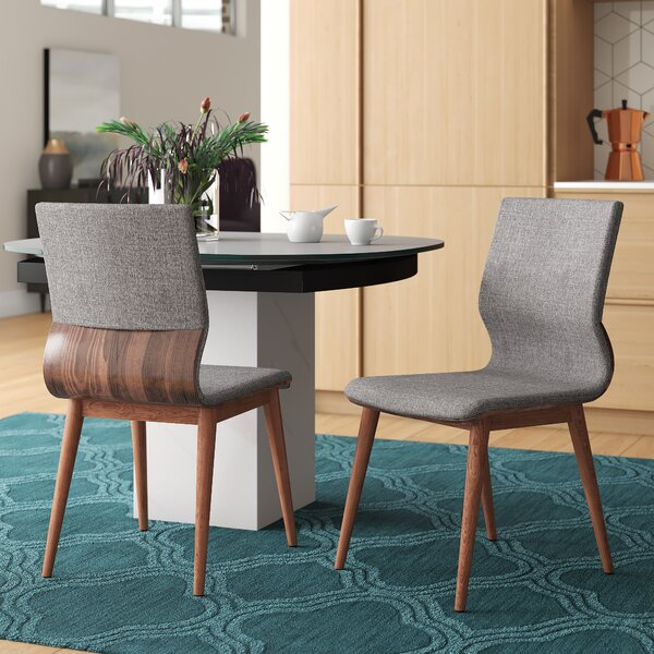 Maston Mid-Century Upholstered Dining Chair (Set of 2) by Mercury Row