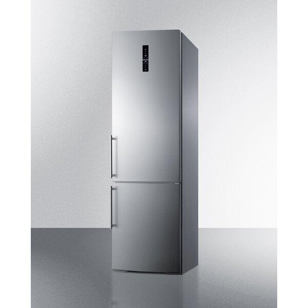 Summit 24 Counter Depth Bottom Freezer 12.8 cu. ft. Energy Star Refrigerator with LED Lighting