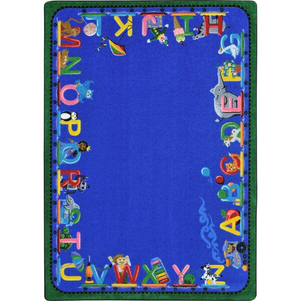 Choo Choo Letters Blue Indoor Area Rug by Joy Carpets