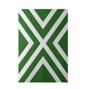 Flatweave Green Area Rug by e by design