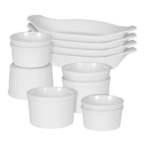 White Basics 12 Piece Bakeware Set by Maxwell & Williams