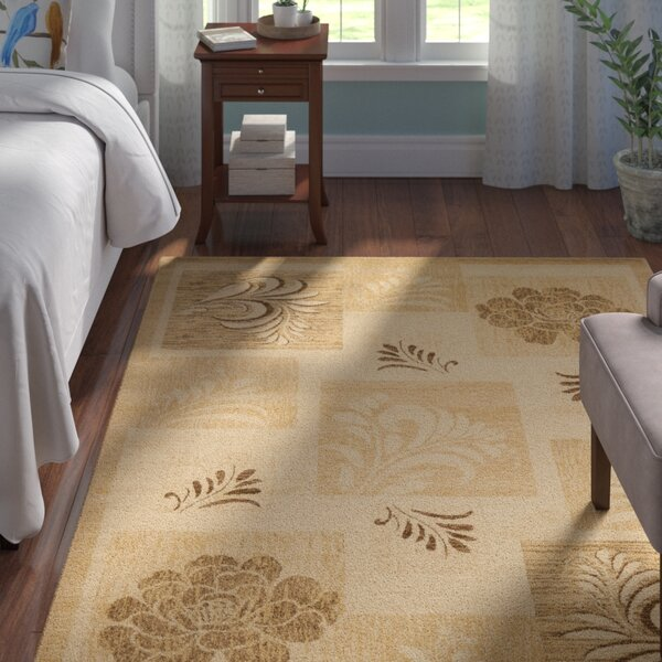 Southampton Ivory Squared Area Rug by Andover Mills