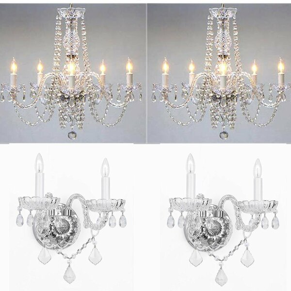 Little Neck 4 Piece Candle Style Chandelier and Wall Sconce Set by Astoria Grand